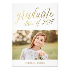 Faux Foil Edition 8 | Graduation Party Invitation