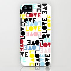 LOVE IS THE NEW BLACK iPhone & iPod Case by radis | Society6