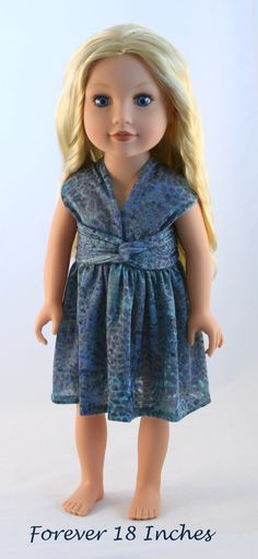 Heres another version of my Infinity Dress pattern--this time made especially to fit Journey Girl dolls!