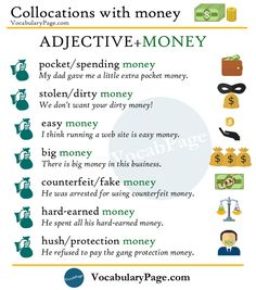 Collocations with money #English www.vocabularypage.com