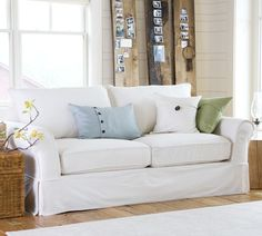 My favorite Pottery Barn sofa. It would only stay clean in my house for 10 minutes. But I'd really enjoy those 10 minutes!