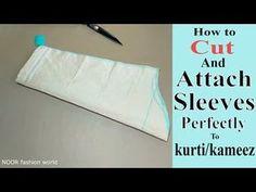 How To Cut Sleeves, Types Of Sleeves, Sleeves Designs For Dresses, Sleeve Designs, Blouse Tutorial, Sewing Collars, Sewing Sleeves, Crochet For Beginners Blanket, Pattern Cutting
