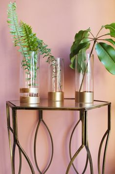 DIY Dip Dye Metallic Vases: How to give those basic glass vases cluttering up your cabinets the Midas Touch.