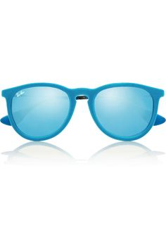 Ray-Ban Erika round-frame velvet mirrored sunglasses