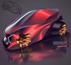 Today's render... If Ferrari made a tiny car? #cardesign #carbodydesign #sketchbook #cardesignsketch #idrawcars #conceptcardesign #carbodysketch #sketchpractice