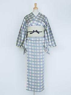 gingham kimono