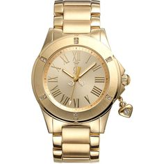 Juicy Couture 'Rich Girl' Round Dial Bracelet Watch ($250) ❤ liked on Polyvore