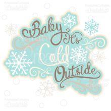 Winter Snowflakes Borders Free SVG Cut Files & Clipart Set - SVG cut files for Silhouette, Cricut cutting machines. Free Snowflake Borders SVG cuts