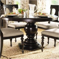 Paula Deen Home Paula's Round Pedestal Dining Table in Tobacco $990