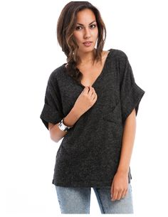 $17.00 Charcoal Knitted Top