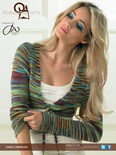 Calbuco Cardigan – A2002 | Knitting Fever Yarns & Euro Yarns - free pattern - long sleeved knitted bolero