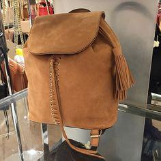 Work-to-weekend chic backpack @rebeccaminkoff #backpack #laceup #tassel #handbag #rebeccaminkoff #nordstrom @pixxyapp