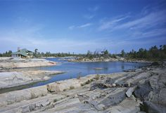 Pointe au Baril, a remote archipelago in Georgian Bay hours north of Toronto) on a large area of exposed Precambrian rock. Lake Huron, Archipelago, Us Travel, Square Feet, Geography, Fresh Water, Ontario, Remote, River