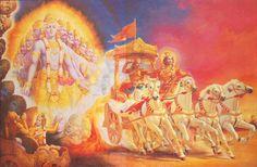 During Gitopadesha, Lord Krishna reveals his Viswaroopa