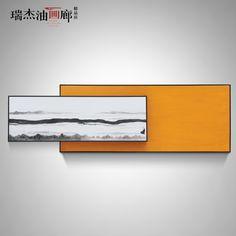 现代简约抽象手绘油画卧室挂画壁画沙发背景客厅装饰画 珠联璧合-淘宝网