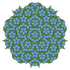 """Mathematics and Art - A Penrose Tiling """"The... - MATHEMATICS & NATURE A Penrose tiling is a non-periodic tiling generated by an aperiodic set of prototiles. Penrose tilings are named after mathematician and physicist Roger Penrose who investigated these sets in the 1970s."""