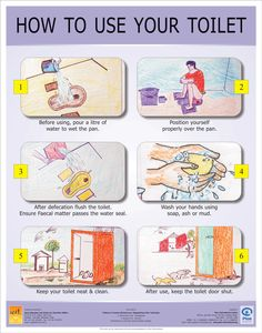 How to use your toilet. Plan.