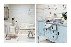 love the blue furniture piece