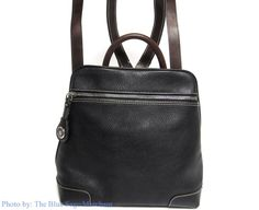 Dooney & Bourke AWL2 ALL WEATHER LEATHER 2 DAY PACK BACKPACK STYLE PURSE BLACK #DooneyBourke #BackpackPurses