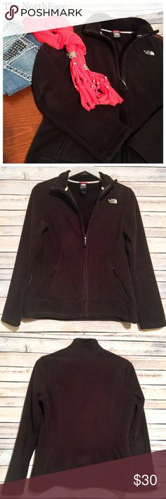 💐Spring Ready! North Face ZipUp Fleece Jkt, Sz M Head into spring with this perfect mid weight fleece from The North Face! Features 2 front zip pockets. Black color. Size Medium. Preloved, older style with lots of life left. No flaws other than general wash wear. Measurements included in photos. Machine washable. Please feel free to ask questions or bundle for best savings. Immediate shipping provided. No trades. 🌷 North Face Jackets & Coats