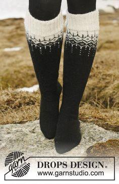 The prettiest #knit socks this winter! #garnstudio