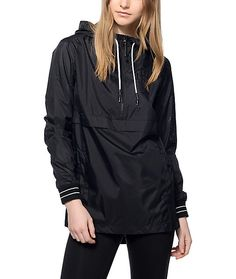 Pump up your urban style with this must have Kinsley black perforated jacket by Ninth Hall. The long torso with an extended back hem with side zippers added will show off your fashion forward look. This Kinsley jacket is a lightweight jacket that you will