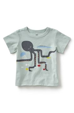 Tea Collection 'Octopus' Graphic T-Shirt (Baby Boys)