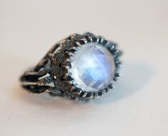 Belonging to the darkness. Moonstone & sterling silver. – Blood Milk Jewels