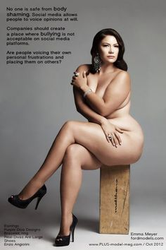 Body Shaming Feature in Plus Model Mag