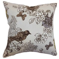 Ouvea Birds Throw Pillow