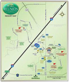 Reunion Resort Map