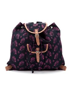 What Kate Did Next By Kate Sheridan Navy Owl Print Backpack
