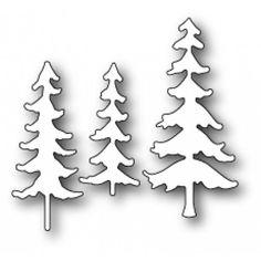 Memory Box Stanzschablone - Fresh Pine Trio