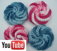 Spiral scrubbies crochet video from Naztazia