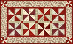 Free pattern - Peppermint Pinwheels runner. http://www.countrylanequilts.com/id30.html