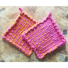 Orange and Pink Hot Pad ($11) ❤ liked on Polyvore featuring integritytt and rescuedofferings