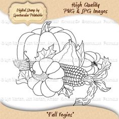 Fall Vegies Digital Stamp for Your Creative Crafting by Spectacular Printable on Etsy, $2.50. http://www.etsy.com/listing/80693064/instant-download-fall-vegies-digital