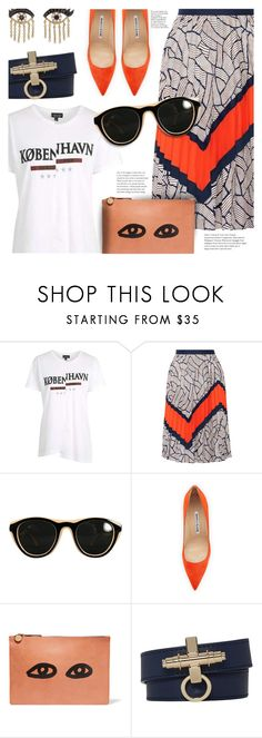 """""""Eye Accents"""" by stacey-lynne ❤ liked on Polyvore featuring Topshop, Diane Von Furstenberg, Maison Margiela, Manolo Blahnik, Clare V., Givenchy and Sydney Evan"""
