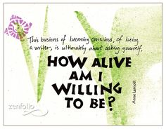 How Alive? Anne Lamott