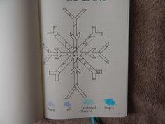 Bullet Journal Mood Tracker for December | BUJO | Snowflake | Mental Health | Planner | Tracker Leuchtturm1917