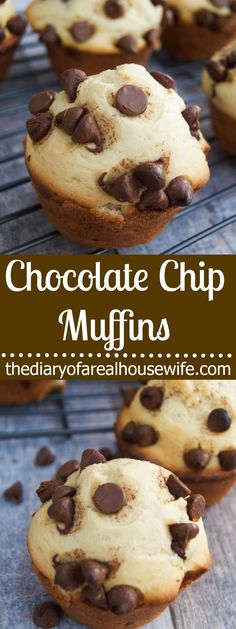 Chocolate Chip Muffins. Simple and easy plus they make the perfect breakfast to freeze and eat later.