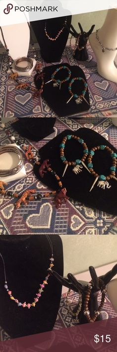 Animal jewelry bundle 2 necklaces, 5 bracelets, 1 anklet Jewelry