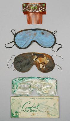 Sleeping masks owned by Marilyn Monroe