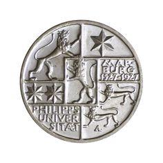 Weimar Silbermünze 3 Reichsmark 400 J. Philipps-Universität Marburg 1927 J.330 in Münzen, Münzen Dt. Reich 1871-1945, Inflation & Weimarer Republik | eBay