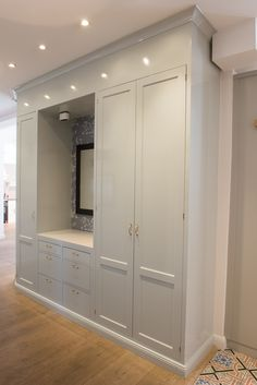 Ikea Hack Storage, Ikea Hacks, Built In Furniture, Walk In Closet, Sliding Doors, Master Bathroom, Tall Cabinet Storage, Modern, Interior Decorating