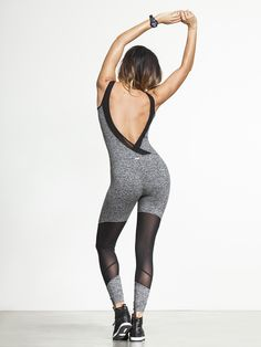 Is there anything sexier than a jumpsuit? Whether you're just looking to stretch it out or just getting ready for a night out, Koral has kept your interests in mind with an ultra-low V back and mesh panels at the calf. Throw on a wrap skirt for an easy outfit and use this gorgeous jumpsuit as motivation to kill it in the gym.