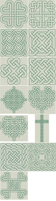 Celtic Knotwork RW Series 01 [Series : The Country Needle Embroidery Designs® Celtic Quilt, Celtic Symbols, Celtic Art, Celtic Knots, Celtic Patterns, Celtic Designs, Embroidery Patterns, Quilt Patterns, Stitch Patterns