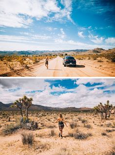 Best to bring your four-wheel drive if you want to navigate the desert. Desiree Schröder and André Josselin at Joshua Tree National Park, 225 kilometers east of L.A.  #VisitCalifornia #AboutHiraeth  [Mercedes-Benz GLE 450 AMG 4MATIC | combined fuel consumption 9.4–8.9 l/100km | combined CO2 emission 219–209 g/km | http://mb4.me/efficiency_statement]