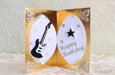 music themed pop up card