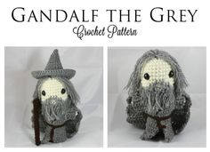 """O_O... Amigurumi Gandalf! Must make one of these...from the blog, """"Amiguru(mi), with pics and instructions. Click on the pic for pics and instructions! :)"""